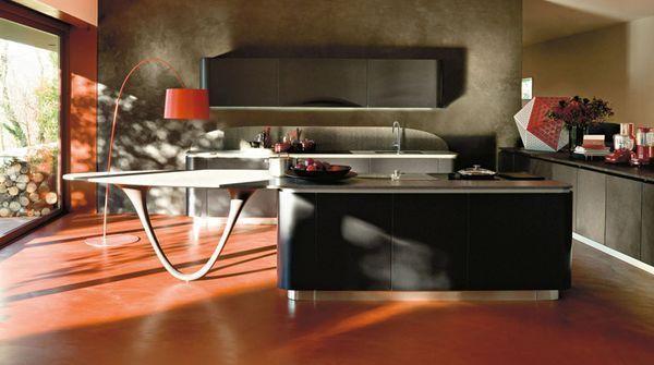 Ola 20. - Modern Kitchen - Black - Snaidero | Decofinder