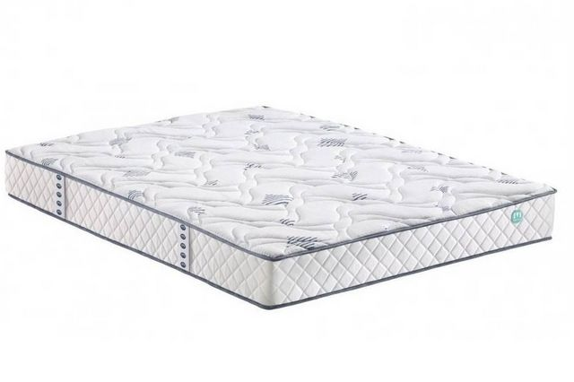 WHITE LABEL - Spring mattress-WHITE LABEL-Matelas STUNY MERINOS à ressorts ensachés longueur