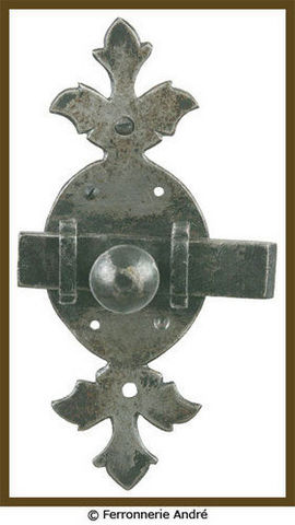 Ferronnerie André - Flat door bolt-Ferronnerie André-T 104