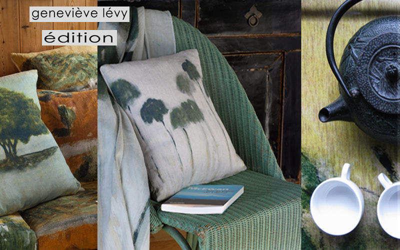 GENEVIEVE LEVY EDITION Kissen quadratisch Kissen, Polster und Bezüge Haushaltswäsche Wohnzimmer-Bar | Exotisch