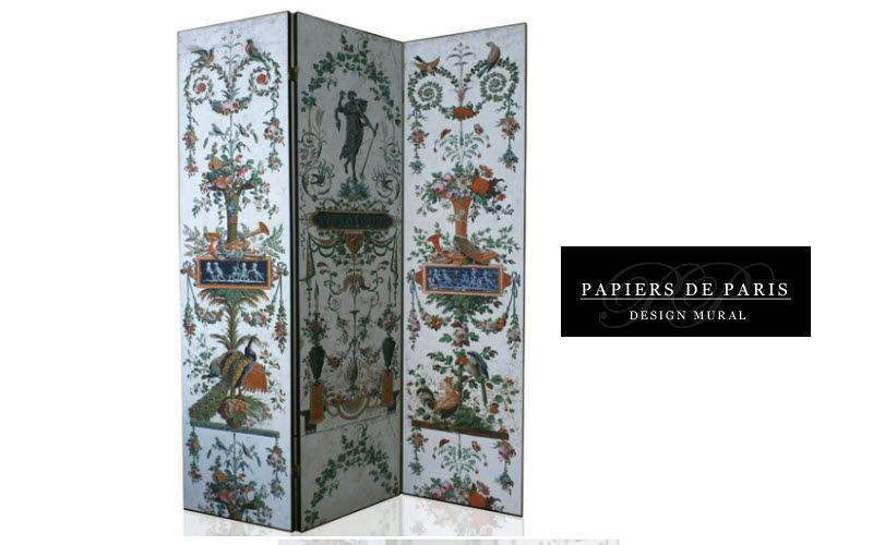 PAPIERS DE PARIS Paravent Sichtschutzwand Tisch Schlafzimmer | Klassisch