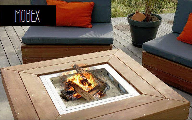 MOBEX / Le Mobilier d'Exception Tisch mit Feuerstelle Gartentische Gartenmöbel Terrasse | Design Modern