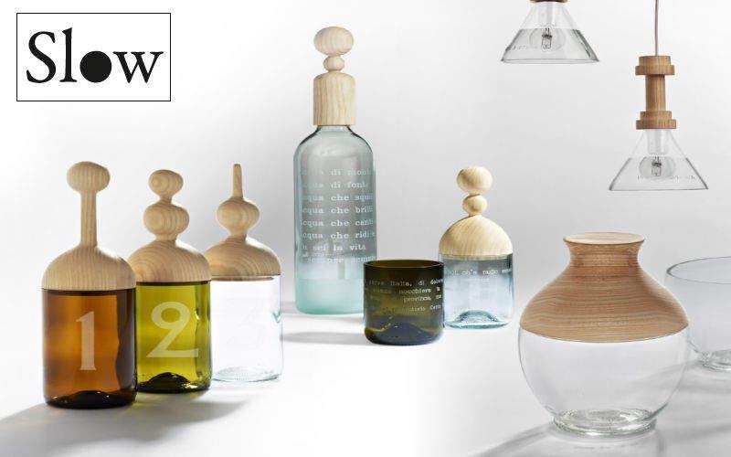 SLOW DESIGN Essig- und Öl-Set Gewürze Tischzubehör Küche |
