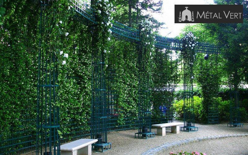 METAL VERT Säulenhalle Scherenzaun und Spalieren Gartenhäuser, Gartentore... Garten-Pool | Klassisch