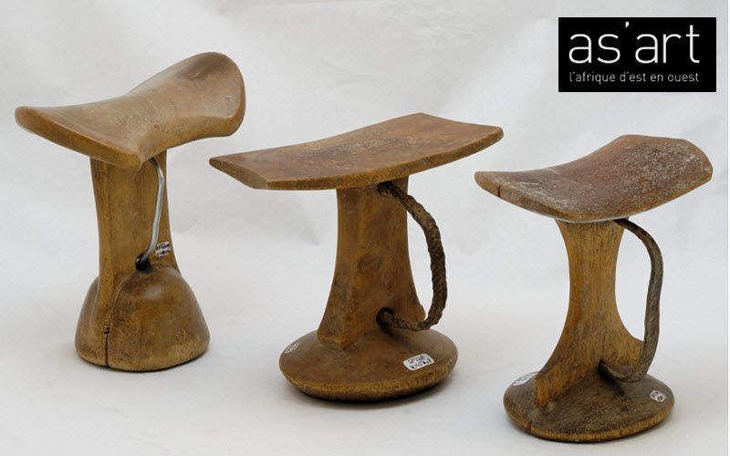 As'art L'afrique D'est En Ouest Hocker Schemel und Beinauflage Sitze & Sofas Wohnzimmer-Bar | Exotisch