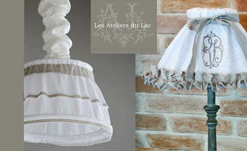 Les Ateliers du Lac Gesticktes Lampenschirm Lampenschirmen Innenbeleuchtung  |