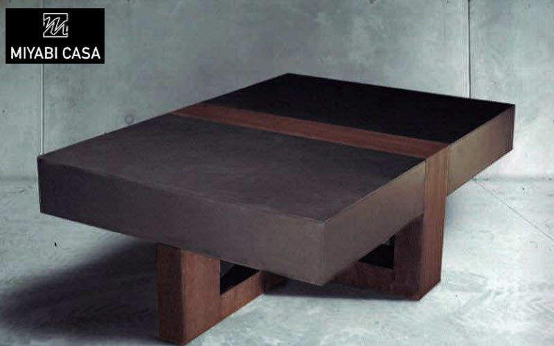 MIYABI CASA Rechteckiger Couchtisch Couchtische Tisch  |