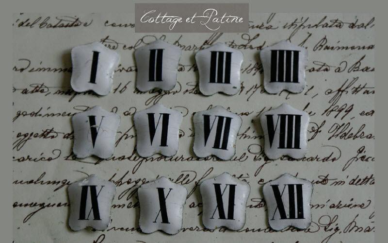 COTTAGE ET PATINE Dekorative Ziffer Dekorative Ziffern und Buchstaben Dekorative Gegenstände  |