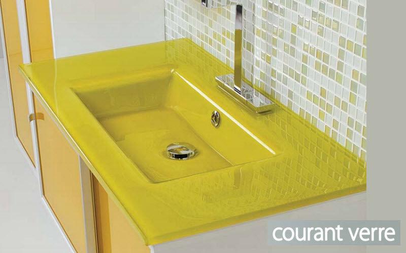 COURANT VERRE waschtischplatte Waschbecken Bad Sanitär  |