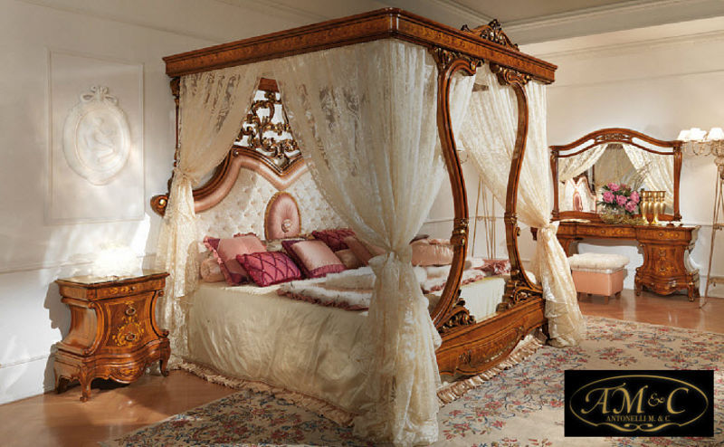 Antonelli Mobili Doppel-Himmelbett Doppelbett Betten  |