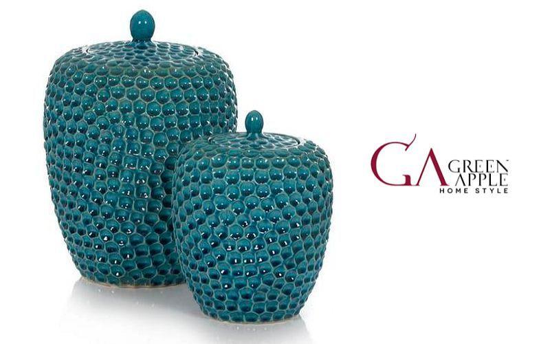 Green Apple Home style Bonbon-Dose Schalen und Gefäße Dekorative Gegenstände  |