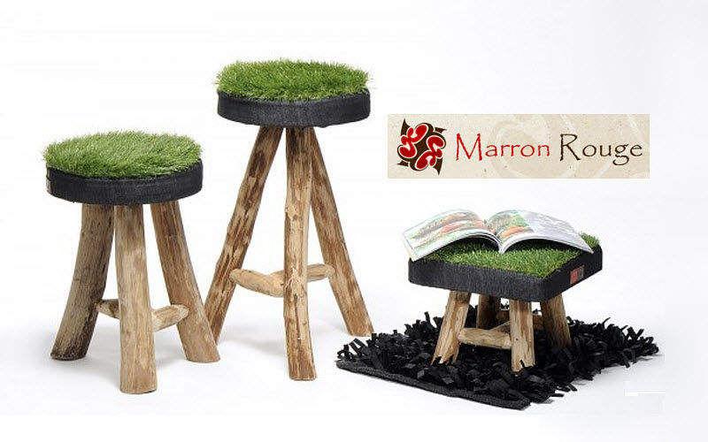 Marron rouge Hocker Schemel und Beinauflage Sitze & Sofas   