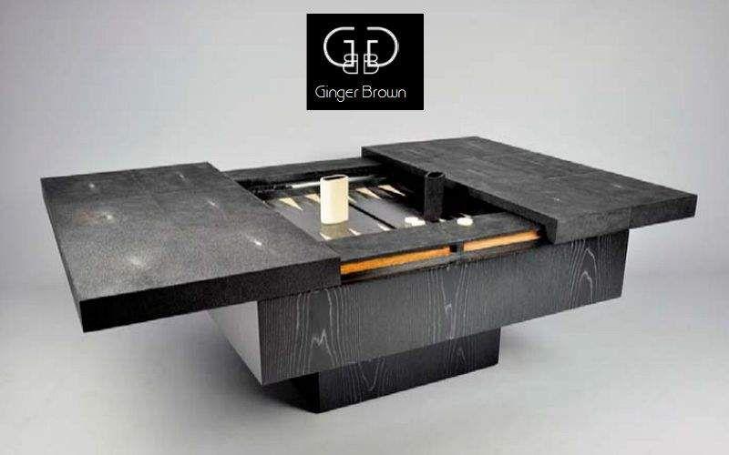 GINGER BROWN Backgammon-Tisch Gesellschaftsspiele Spiele & Spielzeuge  |