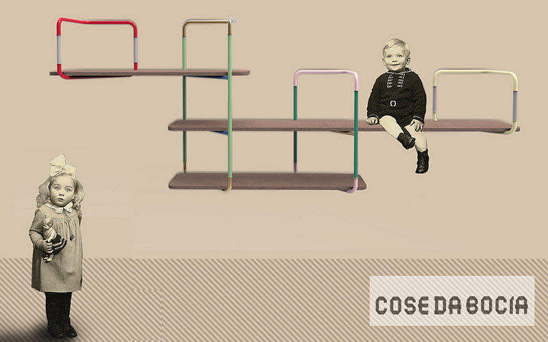 COSE DA BOCIA Kinderregal Aufbewahrung Kinder Kinderecke Kinderzimmer | Design Modern