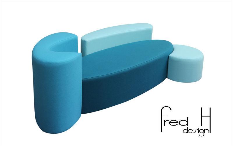 FRED H DESIGN Sofa 2-Sitzer Sofas Sitze & Sofas  |