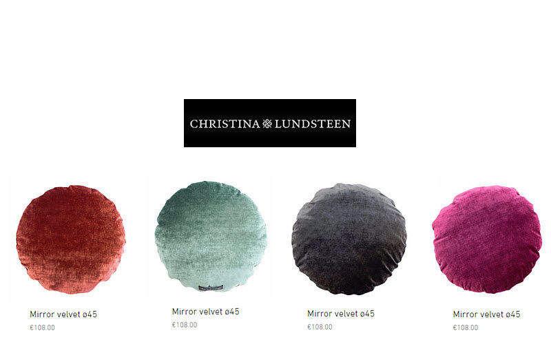 CHRISTINA LUNDSTEEN Rundes Kisse Kissen, Polster und Bezüge Haushaltswäsche  |