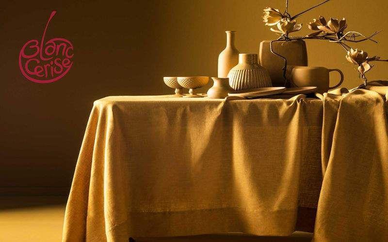 BLANC CERISE Rechteckige Tischdecke Tischdecken Tischwäsche  |
