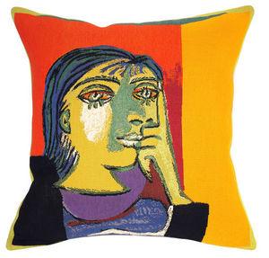 Jules Pansu - portrait de dora maar - Kissen Quadratisch