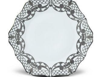 L'OBJET - alencon platinum dinnerware - Flache Teller