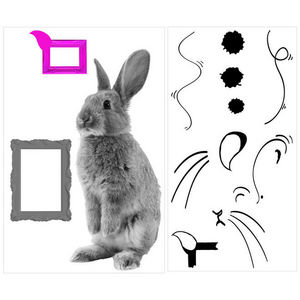 ALFRED CREATION - sticker lapin - Gummiertes Papier