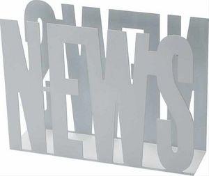 Balvi - porte-revues design en métal blanc news 31.5x42x11 - Zeitschriftenständer