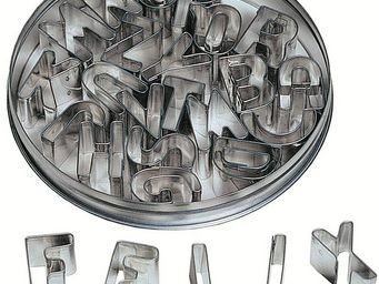 Redecker - emporte pièces alphabet 26 pièces 12x12x2cm - Dekorativer Buchstabe