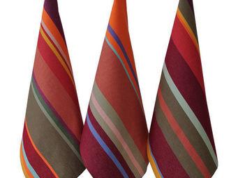 Les Toiles Du Soleil - torchon collioure rouge - Geschirrhandtuch