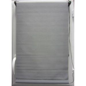 Luance - store enrouleur occultant gris 120x180cm - Rollo