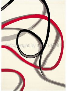 Arte Espina - tapis de salon red trace 1 blanc 170x240 en acryli - Moderner Teppich