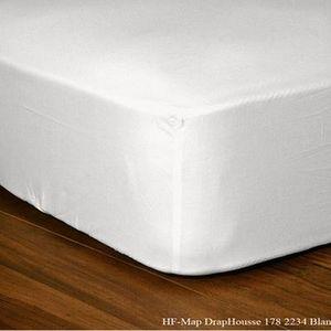 FASHION HOME - drap housse blanc - Spannbettlaken