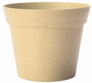 MARC VERDE - pot déco beige en bambou et résine 19x17cm - Übertopf