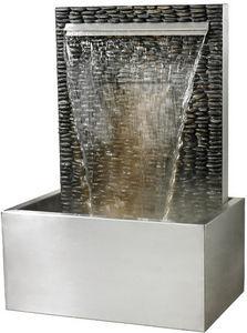 Cactose - fontaine verso galets en pierre de schiste 90x60x1 - Springbrunnen