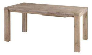 INWOOD - table 160cm nevada en acacia avec allonge 50cm - Rechteckiger Esstisch