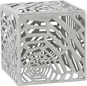 KOKOON DESIGN - table basse carrée spider en aluminium poli 37x37x - Couchtisch Quadratisch