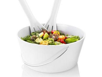 Eva Solo - saladier 3,5 litres avec couverts en mélamine blan - Salatschüssel
