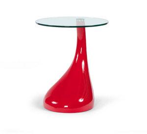 KOKOON DESIGN - table basse droplet rouge 45x54cm - Beistelltisch