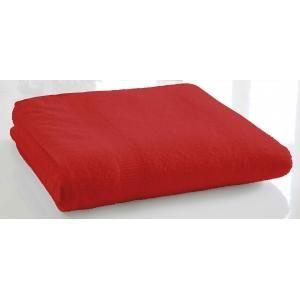 TODAY - serviette de bain unie 70 x 130 cm - couleur - rou - Handtuch