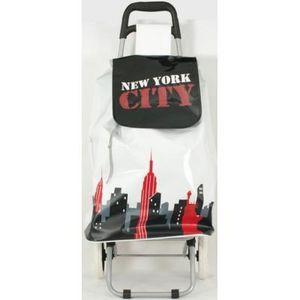 FAYE - chariot de course new york rouge - Einkaufswagen