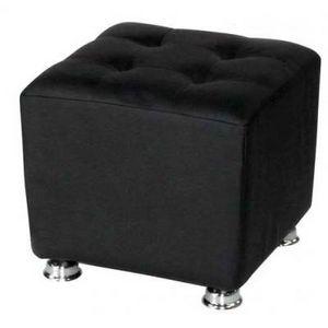 International Design - pouf carré blanc/noir - couleur - noir - Sitzkissen