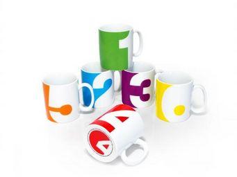 Suck Uk - set de 6 mugs numéros - Mug