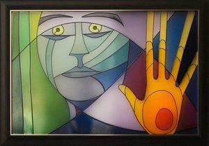 LIGHT MY ART - «l'adieu » © par salma - Zeitgenössische Gemälde