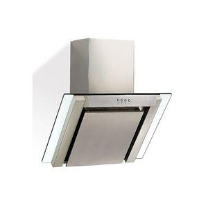 WHITE LABEL - hotte aspirante cheminée inox verre - Deckenabzugshaube