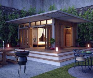 TECK TIME - 20m² cube en angle - Einstöckiges Haus