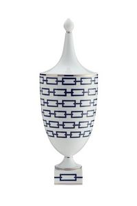 Richard Ginori 1735 - catene nero - Vase Mit Deckel