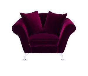 Home Spirit - fauteuil xl ambre tissu microfibre rouge - Sessel