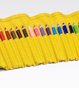 FABRIANO BOUTIQUE - yellow pencil case - Buntstifte