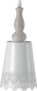 Amadeus - suspension métal et bois perrine - Deckenlampe Hängelampe