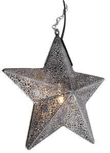 Amadeus - lampe étoile grise en métal - Deckenlampe Hängelampe