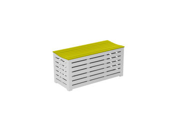City Green - coffre banc de jardin en acacia burano - 90 x 38 x - Garten Banktruhe
