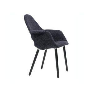 ZUIVER - fauteuil oslo tweed noir - Stuhl